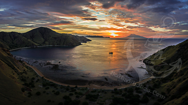 Sunset from Komodo Island