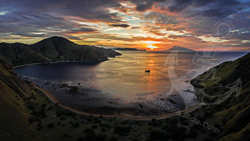 Sunset from Komodo Island