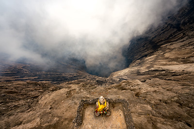 Looking into the depths of Mount Bromo
