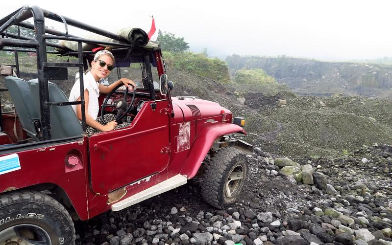 Jeep tour of Mount Merapi, Central Java.