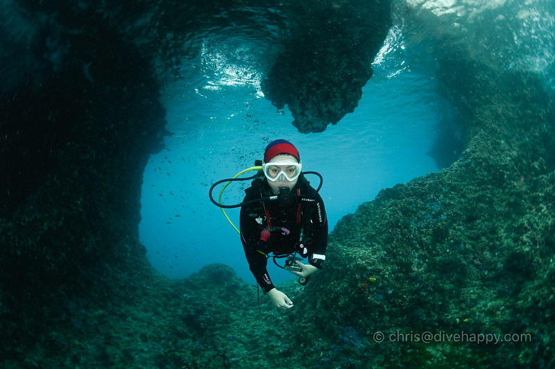 Diver in Boo Window, Raja Ampat