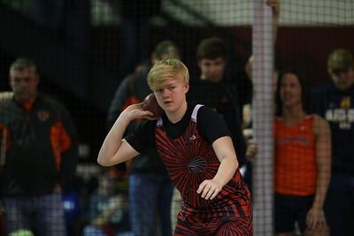Pella, Iowa February 10, 2017 -- Indoor high school track in Pella, IA. Photo by Dan L. Vander Beek