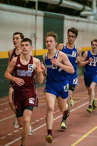 Seniors Kai Williams and Eric Reitz running the 1000. Reitz finished in 3rd place with a time of 2:54.38 followed closely by Williams with a 4th place finish at 2:54.38. Vermont Division II Indoor Track State Championships - UVM Gutterson Field House - 2/16/2020