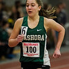 Nashoba's Allie Kovacs competes in the one-mile during the track meet at Fitchburg High on Saturday, February 11, 2017. SENTINEL & ENTERPRISE / Ashley Green
