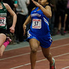Leominster's Mishana Boasiako competes in the 55 M during the track meet at Fitchburg High on Saturday, February 11, 2017. SENTINEL & ENTERPRISE / Ashley Green