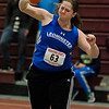 Leominster's Kylee Heap competes in the shot put during the track meet at Fitchburg High on Saturday, February 11, 2017. SENTINEL & ENTERPRISE / Ashley Green