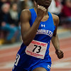 Leominster's Yasmin Yusif competes in the 300 M during the track meet at Fitchburg High on Saturday, February 11, 2017. SENTINEL & ENTERPRISE / Ashley Green