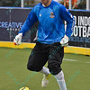 Wichita B-52s goalkeeper BORIS PARDO (27) during a regular season Major Arena Soccer League (MASL) game between the St, Louis Ambush and the Wichita B-52's  played at the Family Arena in St. Charles, MO., where Wichita defeats St. Louis by the score of 9-8 in overtime