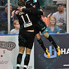 St. Louis Ambush forward GORDY GURSON (3)celebrates his goal with St. Louis Ambush defender RICHARD SCHMERMUND (11) during a regular season Major Arena Soccer League (MASL) game between the St, Louis Ambush and the Wichita B-52's  played at the Family Arena in St. Charles, MO., where Wichita defeats St. Louis by the score of 9-8 in overtime