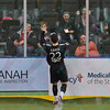 St. Louis Ambush midfielder ANTHONY ARICO (22) celebrates his goal during a regular season Major Arena Soccer League (MASL) game between the St, Louis Ambush and the Tacoma Stars played at the Family Arena in St. Charles, MO., where St. Louis defeats Tacoma by the score of 13-3