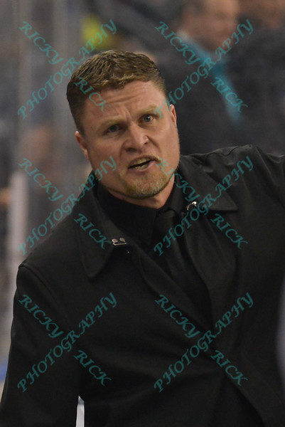 Tacoma Stars head coach DARREN SAWATZKY hollers instructions down the bench during a regular season Major Arena Soccer League (MASL) game between the St, Louis Ambush and the Tacoma Stars played at the Family Arena in St. Charles, MO., where St. Louis defeats Tacoma by the score of 13-3