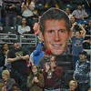 Fans bring a fat head of St. Louis Ambush defender CHAD VANDERGRIFFE (21) to the game during a regular season Major Arena Soccer League (MASL) game between the St, Louis Ambush and the Tacoma Stars played at the Family Arena in St. Charles, MO., where St. Louis defeats Tacoma by the score of 13-3