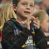A young fan celebrates an Ambush goal during a regular season Major Arena Soccer League (MASL) game between the St, Louis Ambush and the Tacoma Stars played at the Family Arena in St. Charles, MO., where St. Louis defeats Tacoma by the score of 13-3