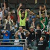 Fans participate in the wave during a regular season Major Arena Soccer League (MASL) game between the St, Louis Ambush and the Tacoma Stars played at the Family Arena in St. Charles, MO., where St. Louis defeats Tacoma by the score of 13-3