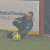 St. Louis Ambush goalie ALAN HAGERTY (0) makes a diving save during a regular season Major Arena Soccer League (MASL) game between the St, Louis Ambush and the Tacoma Stars played at the Family Arena in St. Charles, MO., where St. Louis defeats Tacoma by the score of 13-3