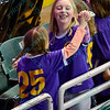 Young fans dance during a stoppage in play during a regular season Major Arena Soccer League (MASL) game between the St, Louis Ambush and the Tacoma Stars played at the Family Arena in St. Charles, MO., where St. Louis defeats Tacoma by the score of 13-3