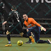 St. Louis Ambush forward GORDY GURSON (3) makes a move on Tulsa Revolution goalkeeper RICHARD NOLASCO (1) during a shootout attempt during a regular season Major Arena Soccer League (MASL) game between the St, Louis Ambush and the Tacoma Stars played at the Family Arena in St. Charles, MO., where St. Louis defeats Tacoma by the score of 13-3