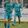 St. Louis Ambush forward ELVIR KAFEDZIC (9) celebrates his goal during a regular season Major Arena Soccer League (MASL) game between the St, Louis Ambush and the Missouri Comets played at the Family Arena in St. Charles, MO., where Missouri Comets defeat St. Louis by the score of 10-5