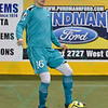 St. Louis Ambush defender DAVID PAUL (16) during a regular season Major Arena Soccer League (MASL) game between the St, Louis Ambush and the Missouri Comets played at the Family Arena in St. Charles, MO., where Missouri Comets defeat St. Louis by the score of 10-5