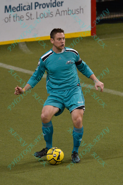 St. Louis Ambush defender CHRIS MATTINGLY (6) during a regular season Major Arena Soccer League (MASL) game between the St, Louis Ambush and the Missouri Comets played at the Family Arena in St. Charles, MO., where Missouri Comets defeat St. Louis by the score of 10-5