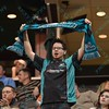 An St. Louis Ambush fan shows his support during a regular season Major Arena Soccer League (MASL) game between the St, Louis Ambush and the Missouri Comets played at the Family Arena in St. Charles, MO., where Missouri Comets defeat St. Louis by the score of 10-5