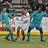 St. Louis Ambush forward ELVIR KAFEDZIC (9) and St. Louis Ambush forward ODAINE SINCLAIR (12) during a regular season Major Arena Soccer League (MASL) game between the St, Louis Ambush and the Missouri Comets played at the Family Arena in St. Charles, MO., where Missouri Comets defeat St. Louis by the score of 10-5
