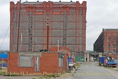 The Stanley Dock Tobacco Warehouses, reputedly the largest brick built building in the world viewed from the access road to Collingwood Dock - August 24, 2004.