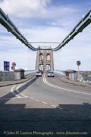 Menai Suspension Bridge, Anglesey, Wales - April 28, 2018