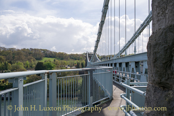 Menai Suspension Bridge, Anglesey, Wales - April 28, 2018