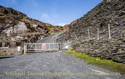 Cwmorthin Quarry, Tanygrisiau, Gwynedd, Wales - February 22, 2019