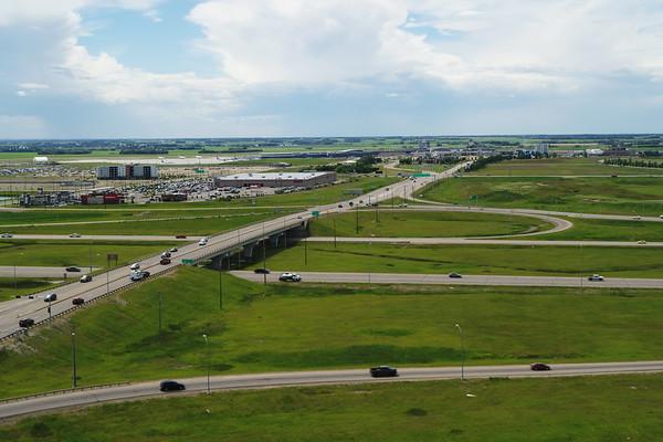 Highway 2 and Edmonton International Airport - Aerial Photo