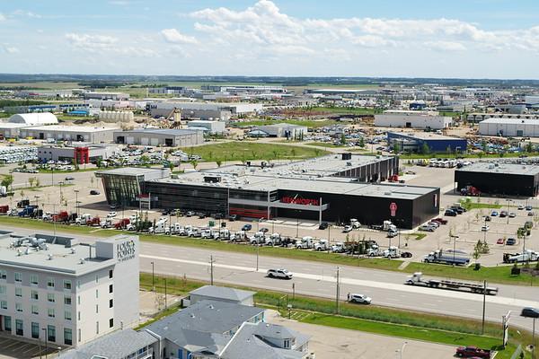 Leduc Business Park - Kenworth Building - Aerial Photo