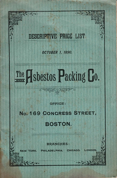 Asbestos Packing Co. (The), Boston, MA., October 1, 1890