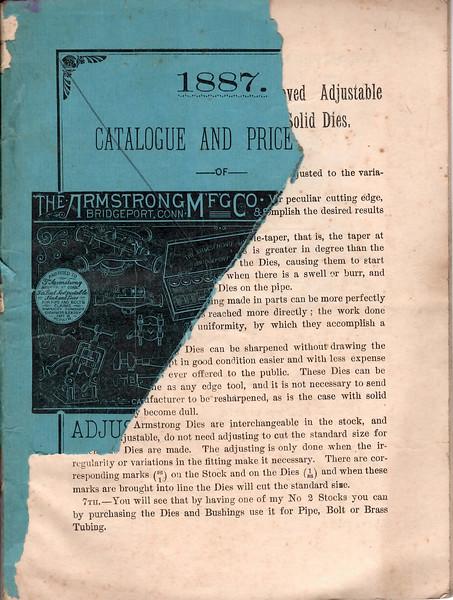 Armstrong Mfg. Co., Bridgeport, Ct., 1887