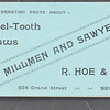 R. Hoe & Co., Interesting Facts About Chisel-Tooth Saws, 1892