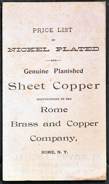 Rome Brass and Copper Company, Rome, NY