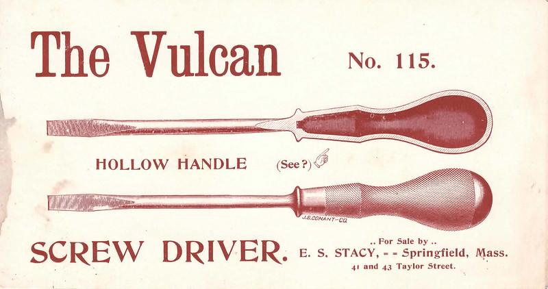 L.S. Starrett Vulcan 115 Screwdriver, est. 1890