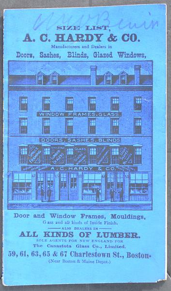 A.C. Hardy & Co., Charlestown St., Boston