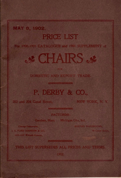 P. Derby & Co., 202 and 204 Canal Street, New York City, NY, 1902