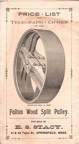 Fulton Wood Split Pulley (1890's)