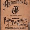 Akron Iron Co., Akron, Ohio, 1892