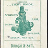 Donegan & Swift, New York, NY, est. 1895