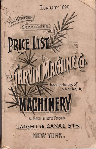 The Garvin Machine Co., Laight & Canal Streets, New York City, NY