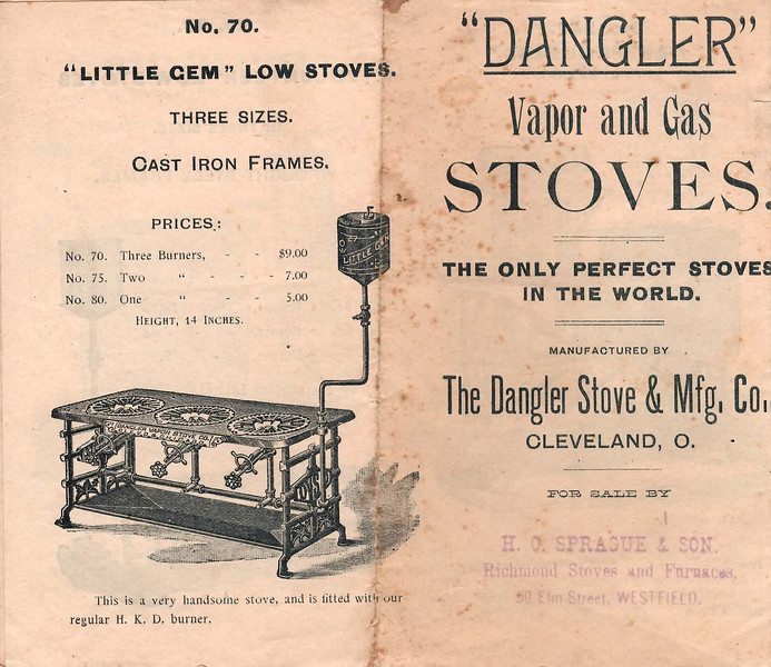 Dangler Stove & Mfg. Co., Cleveland, Ohio