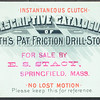 Smith's Patent Friction Drill-Stocks (E.S. Stacy), est. 1891