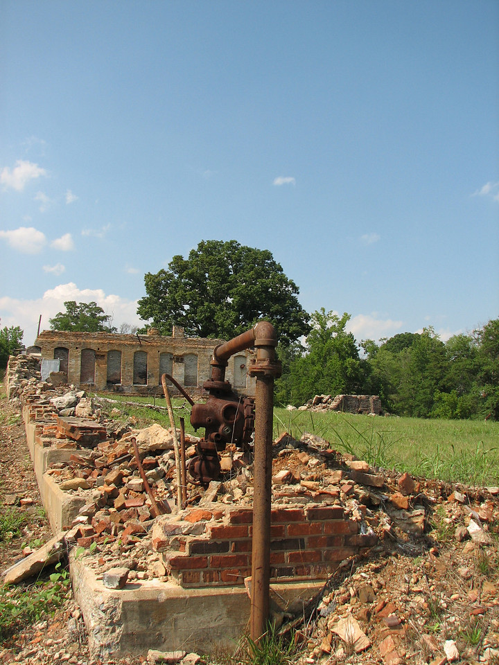 Remains of Mayo Mill in Mayo, SC
