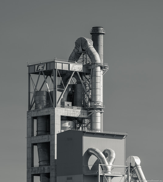 Fragment of a cement plant