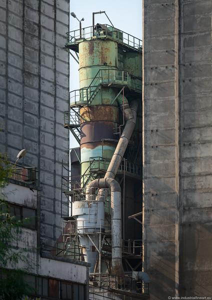 Fragment of a grain elevator in Kretinga