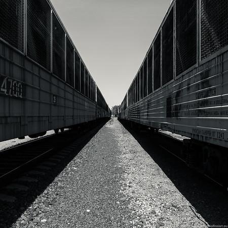 Abstract train yard