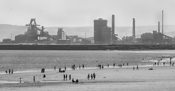 Beach and Industry - Seaton Carew County Durham UK 2019